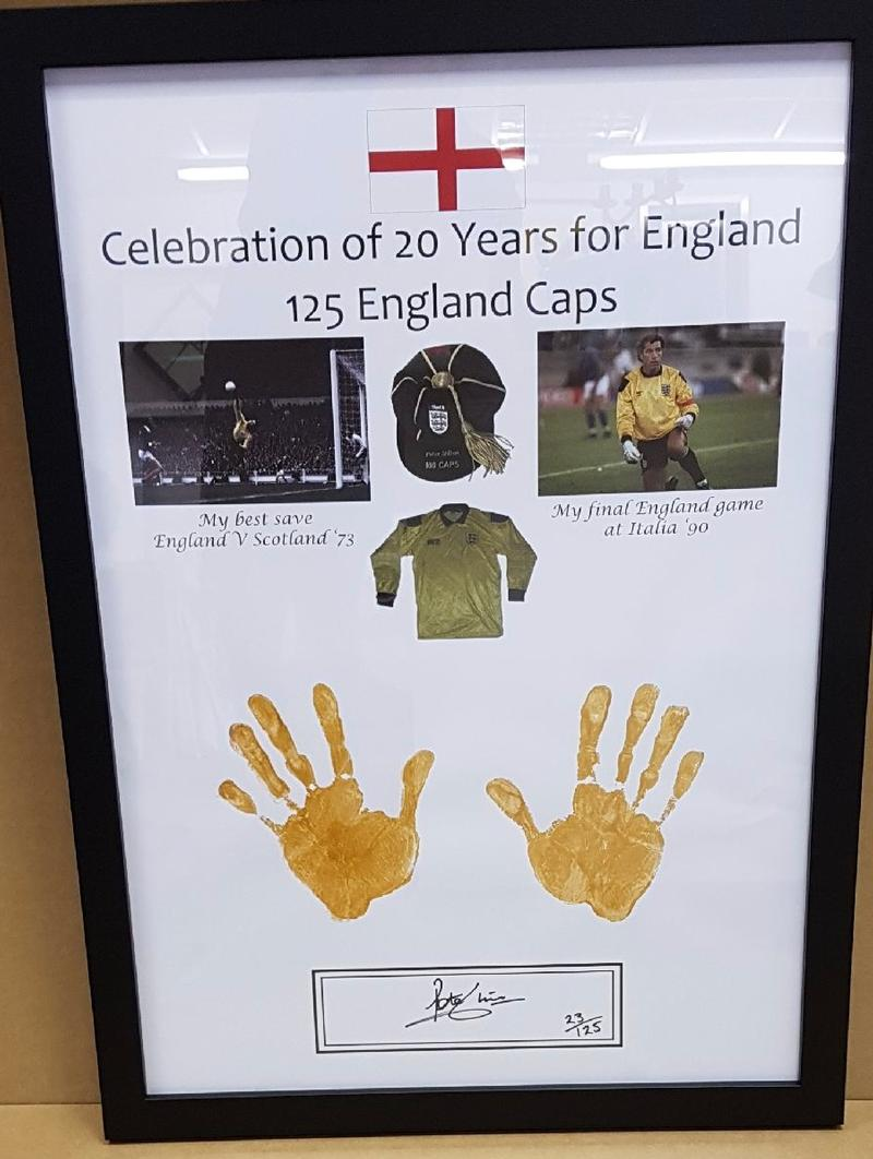 Celebration of Peter Shilton's 125 England Caps